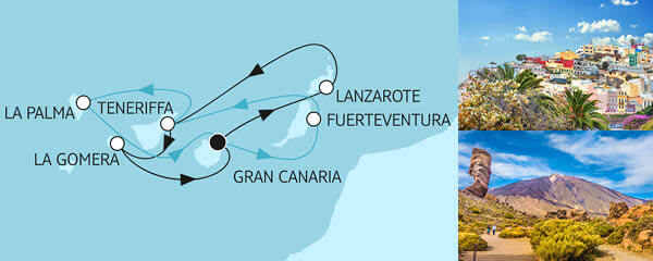 Routenverlauf Blaue Reise - Kanarische Inseln 1 & 2 am 14.05.2021