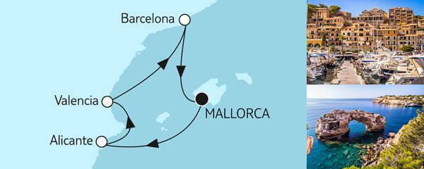 7 Tage Blaue Reise - Spanische Küste 2