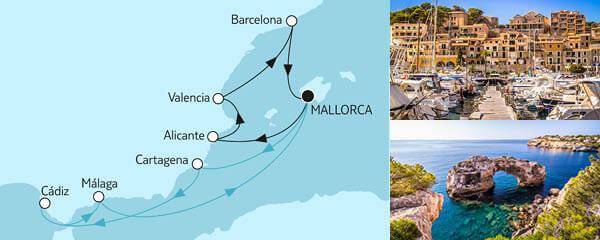 14 Tage Blaue Reise - Spanische Küste 1 & 2