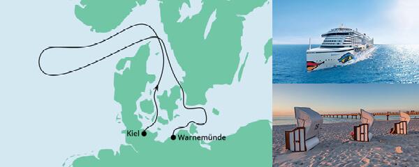Routenverlauf Ahoi Tour von Kiel nach Warnemünde am 26.06.2021