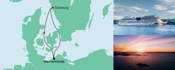 Routenverlauf Ahoi Tour ab Warnemünde 1 am 01.07.2021