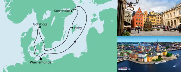 Routenverlauf Ahoi Tour ab Warnemünde 3 am 04.07.2021