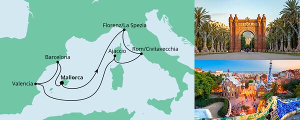 Osterreise durchs Mittelmeer