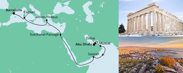 Von Abu Dhabi nach Barcelona