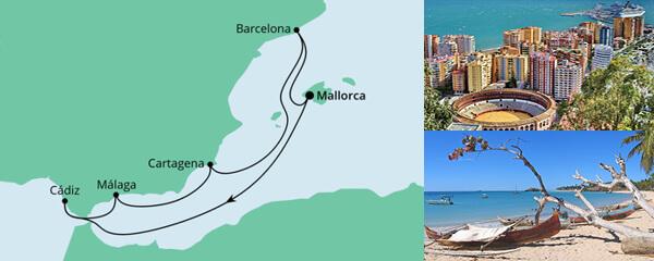 AIDA Pauschal Angebot Spanische Mittelmeerküste 1