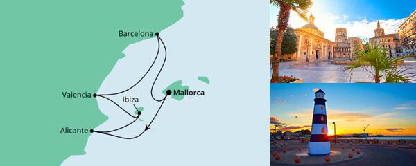 AIDA Pauschal Angebot Spanische Mittelmeerküste 2