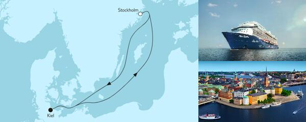 Routengrafik Blaue Reise ab Kiel 2