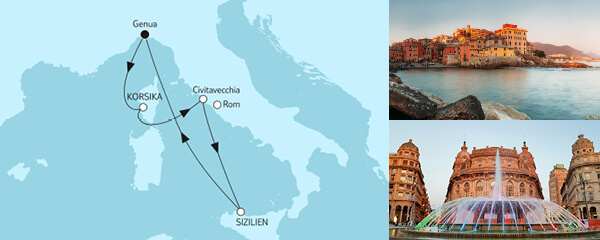 Routengrafik Große Freiheit - Italienische Küste 1