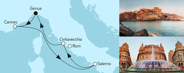 Routengrafik Große Freiheit - Italienische Küste 2