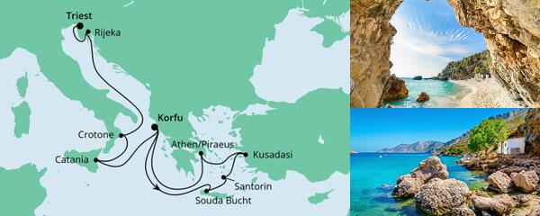 Von Kreta nach Triest