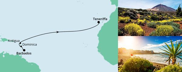 Von Barbados nach Teneriffa