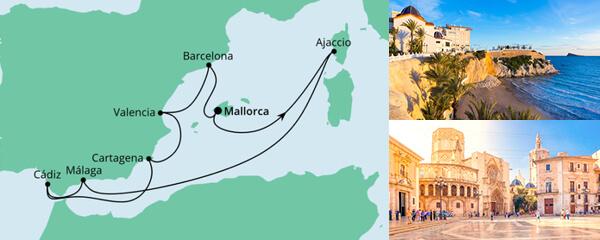 AIDA Pauschal Angebot Spanien & Korsika
