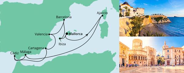 AIDA Pauschal Angebot Spanien, Korsika & Balearen