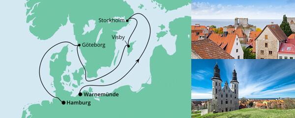 AIDA Angebot Ahoi Tour von Warnemünde nach Hamburg