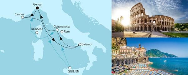 Routengrafik Große Freiheit - Italienische Küste 1 & 2
