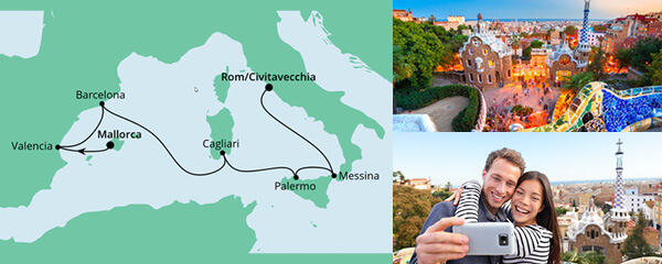 Von Mallorca nach Rom