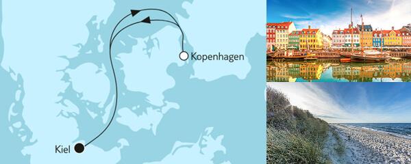 Routengrafik Ganz große Freiheit - Kurzreise mit Kopenhagen
