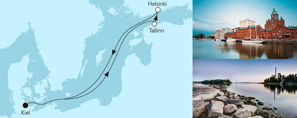 Routengrafik Ganz große Freiheit - Kurzreise mit Helsinki