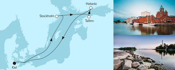 Routengrafik Ganz große Freiheit - Schwedische Küste 2
