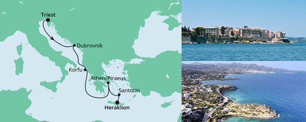 Von Triest nach Kreta