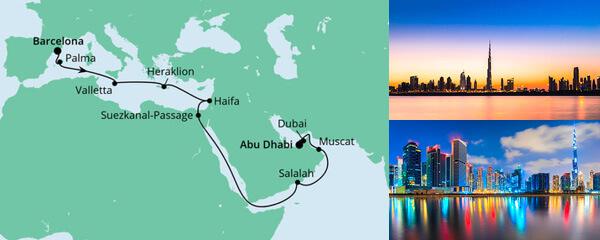 Von Barcelona nach Abu Dhabi