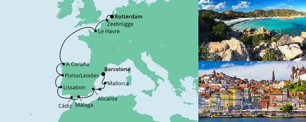 Von Barcelona nach Rotterdam