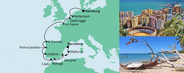 Von Barcelona nach Hamburg