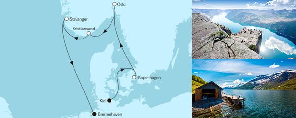 Routenverlauf Ganz große Freiheit - Norwegische Küste 3 am 24.10.2021