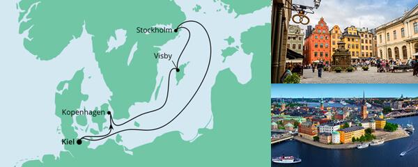 Routenverlauf Ahoi Tour ab Kiel am 25.09.2021