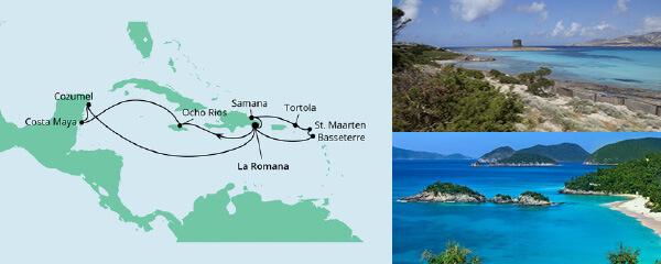 AIDA Seetours Angebot Karibik & Mexiko ab Dominikanische Republik 1