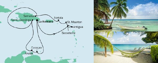 AIDA Seetours Angebot Karibik & kleine Antillen 1