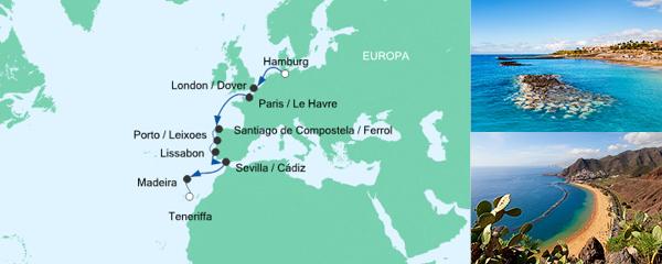 AIDA Pauschal Angebot Von Hamburg nach Teneriffa 2