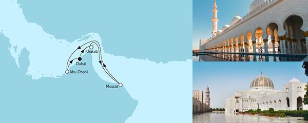 Routenverlauf Dubai mit Oman am 21.01.2019