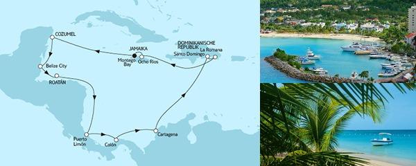 Routenverlauf TUI Cruises