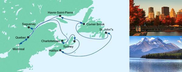 AIDA Seetours Angebot Kanadas Ostküste