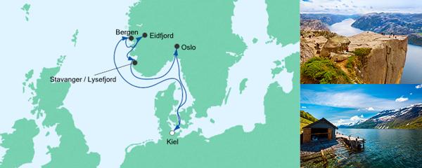 AIDA Traumstart um 12 Angebot Norwegen ab Kiel 4