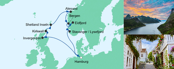 AIDA VARIO Kurzfristverkauf Nordische Inseln & Norwegen