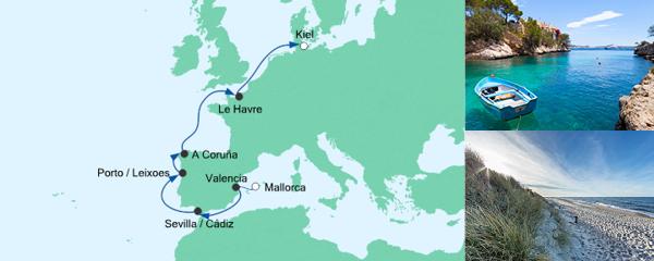 AIDA Verlockung der Woche Angebot Von Mallorca nach Kiel 1