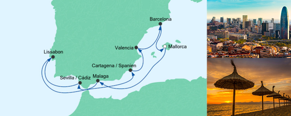 AIDA Spezialangebot Spanien & Portugal 2