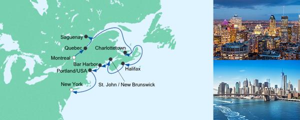 Von Montreal nach New York