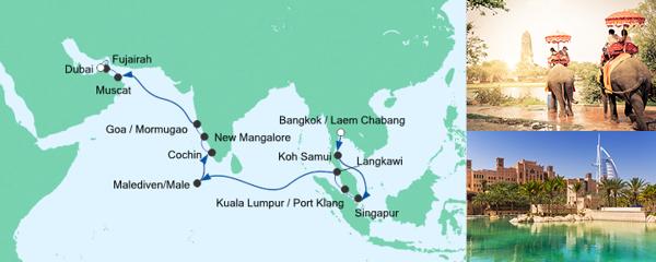 AIDA Seetours Angebot Von Bangkok nach Dubai