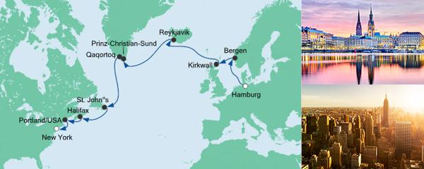 AIDA Seetours Angebot Von Hamburg nach New York 2