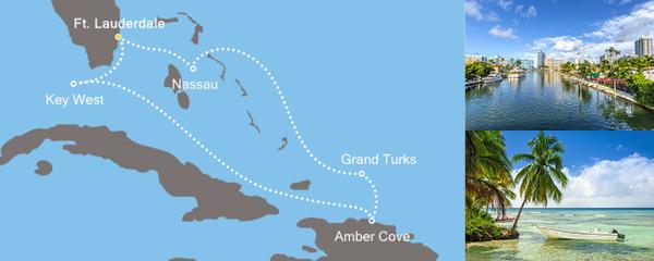Routenverlauf Festtage zwischen Florida und den Bahamas am 19.12.2018