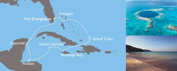 Routenverlauf Magische Karibik am 12.01.2019