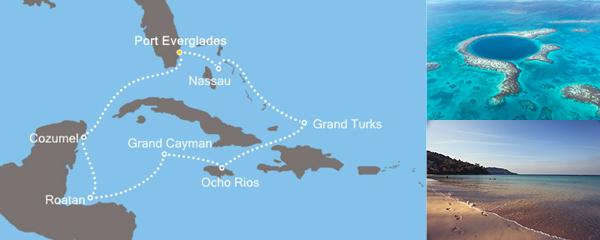Routenverlauf Magische Karibik am 01.02.2019