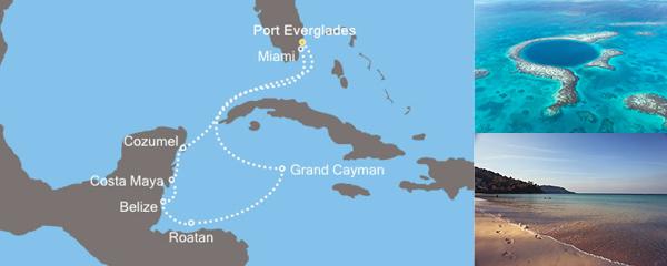 Routenverlauf Magische Karibik am 21.02.2019
