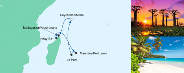 Mauritius,Seychellen und Madagaskar