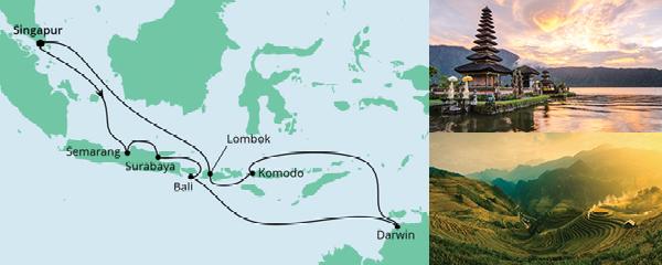 Routenverlauf Australien & Indonesien am 20.12.2020