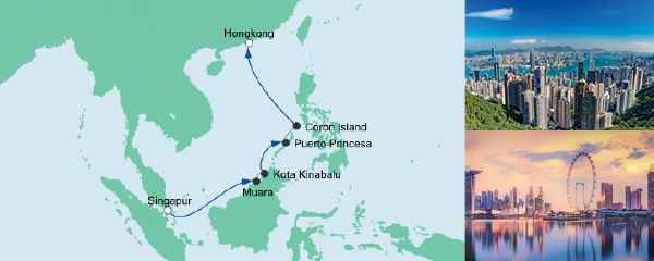 Mein Schiff Special EURESAreisen Brunei, Philippinen & Hongkong