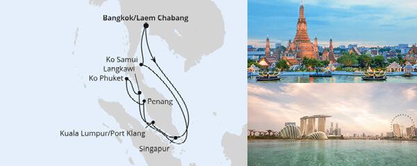 AIDA Pauschal Angebot Thailand, Malaysia & Singapur 3